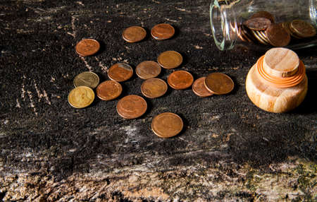 Fine art still life with coins photo
