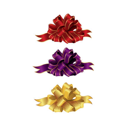 Bows and Ribbons isolated sets on white