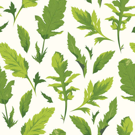 seamless pattern with leaf Stock Vector - 16980926