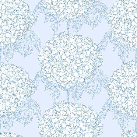 Seamless pattern with hydrangeas Vector