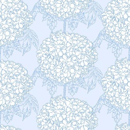 Seamless pattern with hydrangeas Illustration