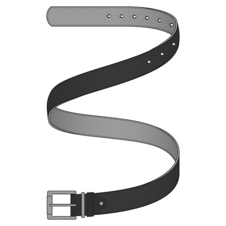 Vector illustration of grey belt isolated on white