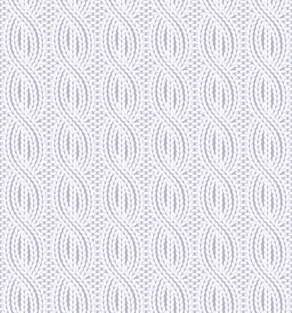 Vector illustration of knitted seamless pattern in light colors Illustration