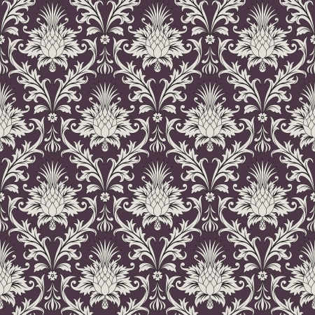 illustration of the floral baroque seamless wallpaper pattern