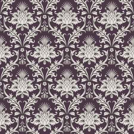 ilustraci�n del patr�n floral barroco seamless wallpaper Vectores