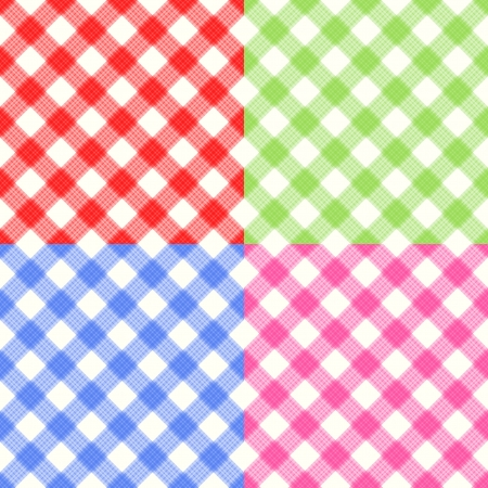 Checkerboard Tablecloth Seamless Pattern Illustration