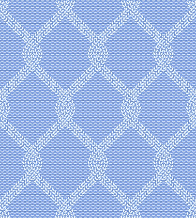 illustration of knitted seamless pattern in blue colors Illustration