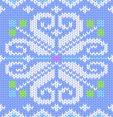 illustration of knitted seamless pattern  Vector