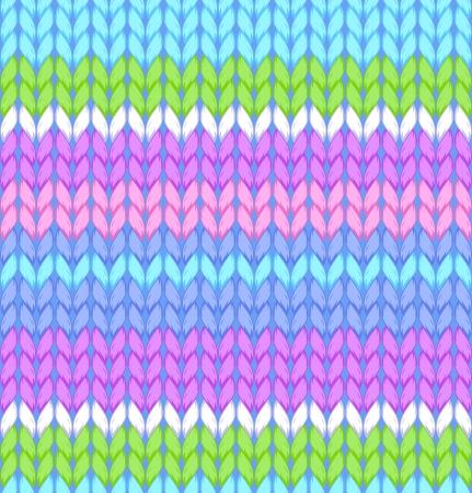 シームレス パターンを編み図