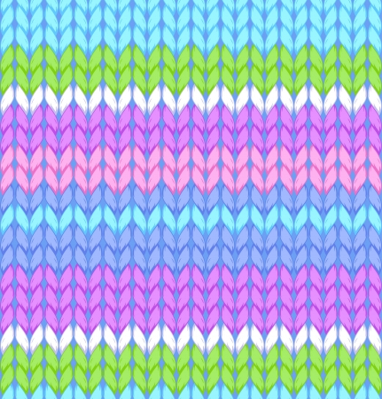 knitted background: illustration of knitted seamless pattern Illustration