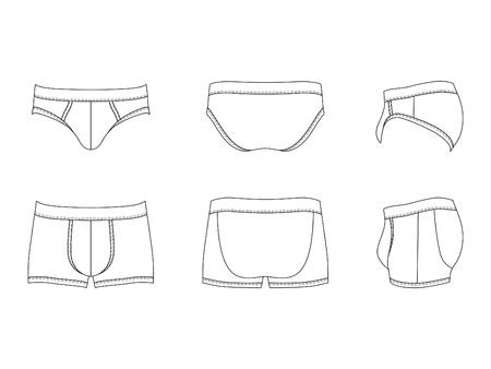 ropa interior: Ilustración de los hombres