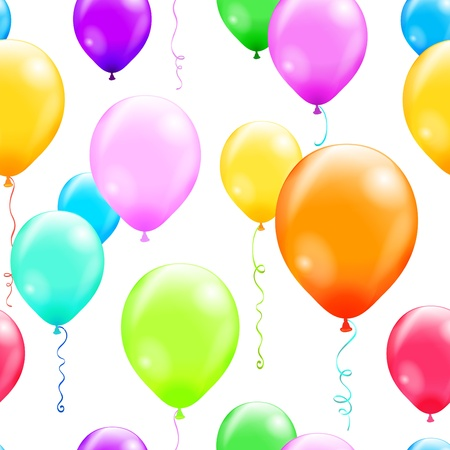 Vector illustration of balloons seamless pattern contains a transparency effects and gradients  no mesh   EPS 10