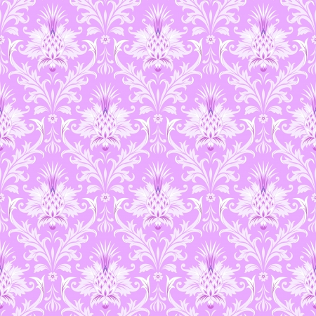 victorian wallpaper: illustration of the floral baroque seamless wallpaper pattern