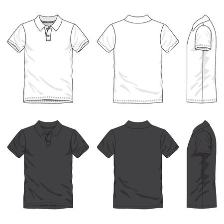 前面、背面と空白のシャツ側ビュー