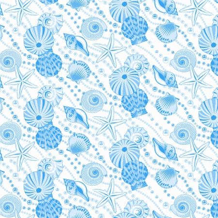 Vector illustration of seamless pattern with seashells Stock Vector - 18157067
