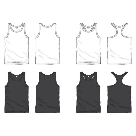 Front and back views of blank top Illustration