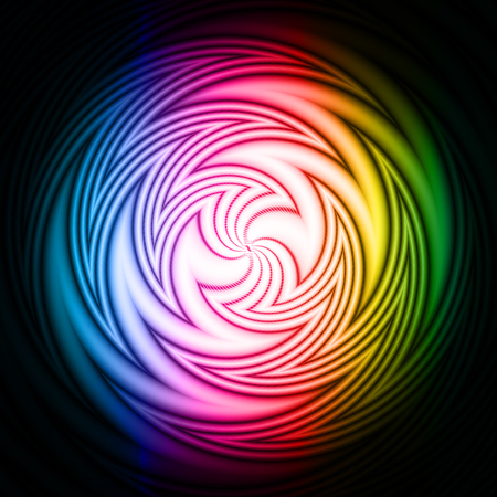 Vector abstract background with colorful swirl effect Vector