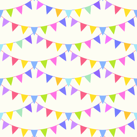 Seamless bunting flags background. Vector illustration. Vector