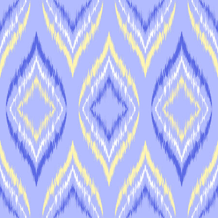 Abstract background. Seamless ikat pattern. Vector illustration.