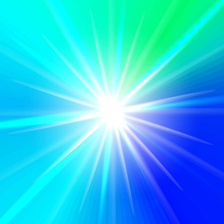 floodlit: Abstract star in blue and green colors. Vector background for you design, web design, desktop wallpaper or website. Illustration