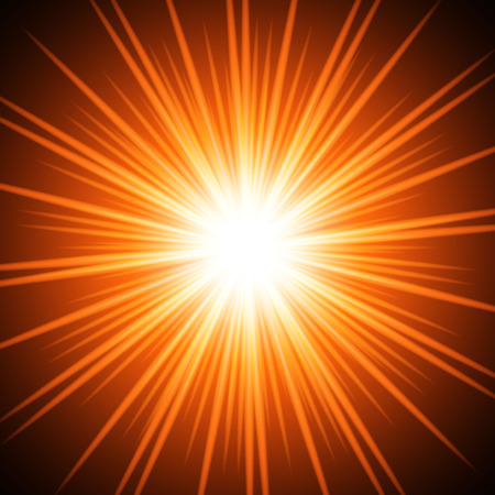 floodlit: Abstract fiery sun. Vector background for you design, web design, desktop wallpaper or website. Illustration