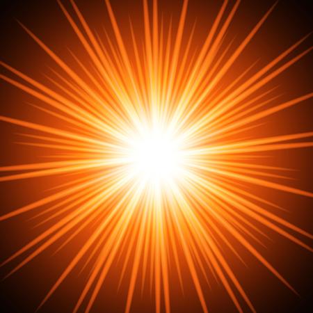 Abstract fiery sun. Vector background for you design, web design, desktop wallpaper or website. Illustration