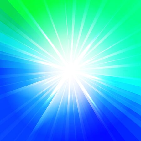 Abstract star in blue and green colors. Vector background for you design, web design, desktop wallpaper or website. Vector