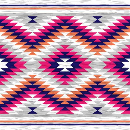 Resumen de antecedentes. Modelo incons�til en estilo popular. Ilustraci�n del vector. Americano antiguo Navajo textil.