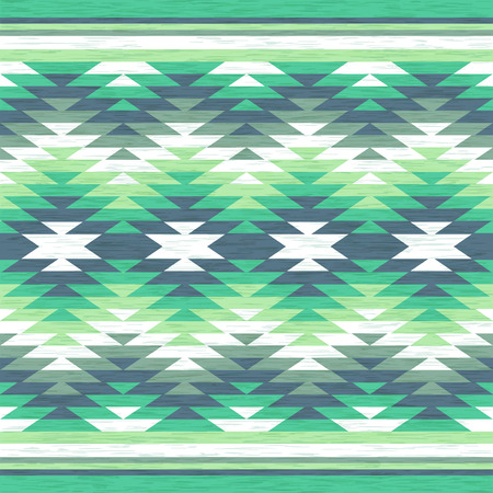抽象的な背景。民謡風のシームレスなパターン。ベクトルの図。アンティーク アメリカのナバホ族の織物。