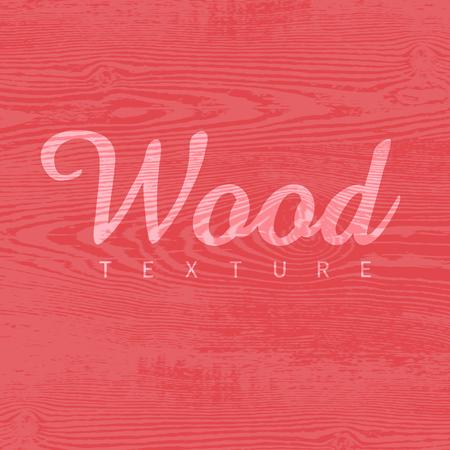 赤い色のウッド テクスチャ テンプレート。ベクトルの図。自然な木製の背景。