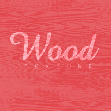 Wood texture template in red colors. Vector illustration. Natural wooden background.
