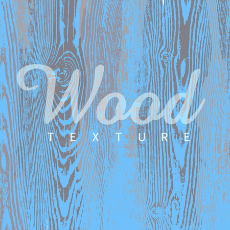 Wood texture template in blue colors. Vector illustration. Natural wooden background.