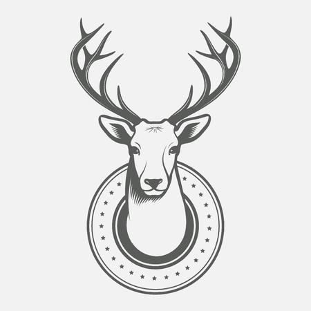 venado: Cabeza de ciervo Vectores