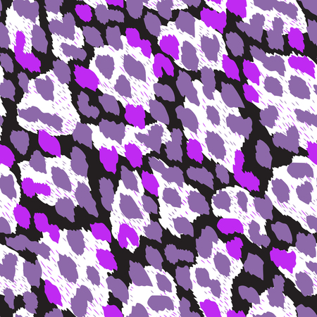 fur: Vector background of animal seamless pattern. Colorful mixed pattern of leopard, giraffe furs. Creative dynamic fashion pattern, print, wallpaper, textile. Illustration