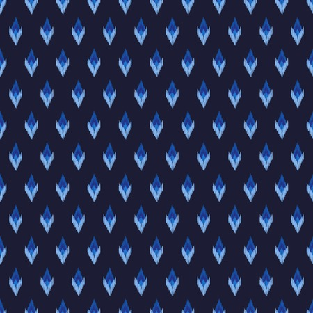 home fashion: Tribal vector seamless pattern in blue colors. May be used for fashion design, fabric, home decor textile, wallpaper, card and wrapping paper.