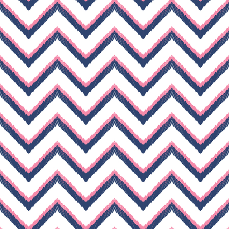 home decor: Herringbone background. Ikat seamless pattern for home decor textile, clothes, wallpaper, card or wrapping paper. Illustration