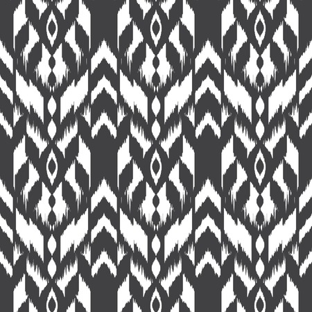 grey pattern: Modern ethnic seamless pattern in bohemian, hipster fashion style. Aztec, navajo, mexican seamless wallpaper. Ikat pattern for textile design, home decor, wrapping paper. Vector background. Illustration