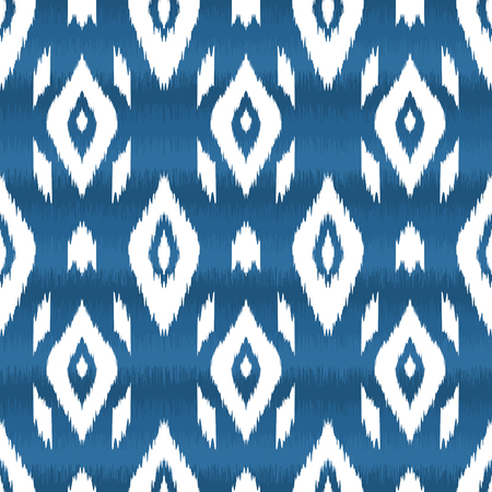 Modern ethnic seamless pattern in bohemian, hipster fashion style. Aztec, navajo, mexican seamless wallpaper. Ikat pattern for textile design, home decor, wrapping paper. Vector background.  イラスト・ベクター素材