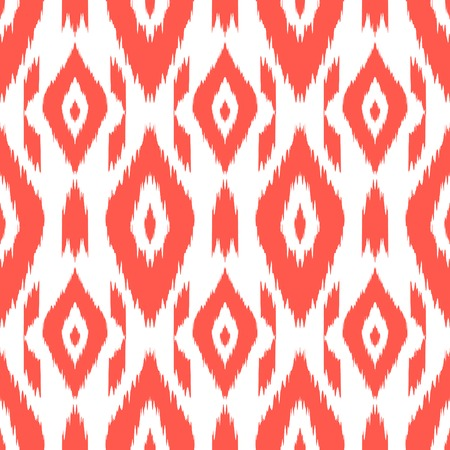 Modern ethnic seamless pattern in bohemian, hipster fashion style. Aztec, navajo, mexican seamless wallpaper. Ikat pattern for textile design, home decor, wrapping paper. Vector background. Illustration