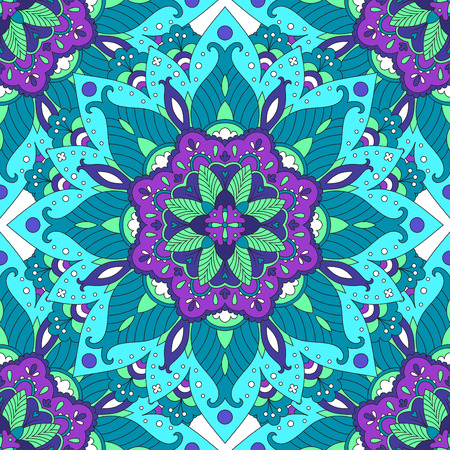 home fashion: Colorful arabesque, mandala pattern design in ethnic style. Seamless pattern for home decor textile, fashion clothes, wrapping paper, wallpaper, backgrounds, scrapbook paper, invitation greeting card. Illustration