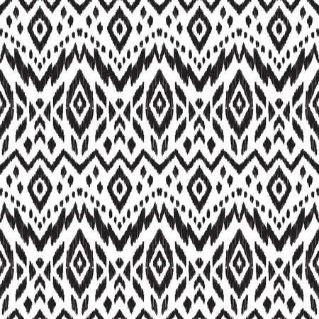 home fashion: Black and white vector seamless pattern. Abstract ethnic print for fashion fabric, home decor textile, wallpaper, card and wrapping paper. Illustration