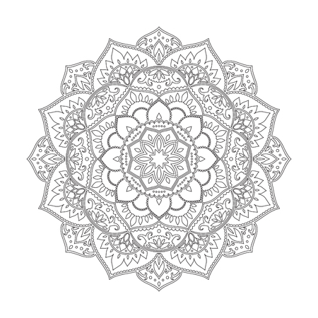 Colorido Arabescos, Mandala Establecido En Estilo étnico. Elementos ...
