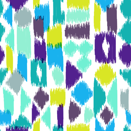 hatch: Motley seamless pattern with abstract hatch shapes. Pattern may be used for wallpaper, home decor textile, fashion fabric, wrapping paper, web, print, cards background. Illustration