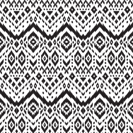 home fashion: Black and white vector seamless pattern. Ethnic print for fashion fabric, home decor textile, wallpaper, card and wrapping paper. Illustration