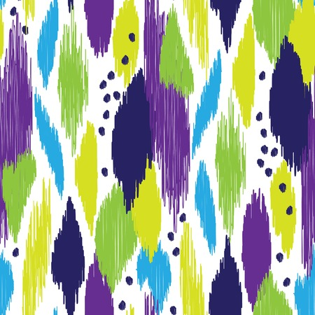 home decor: Motley seamless pattern with abstract hatch shapes. Pattern may be used for wallpaper, home decor textile, fashion fabric, wrapping paper, web, print, cards background. Illustration