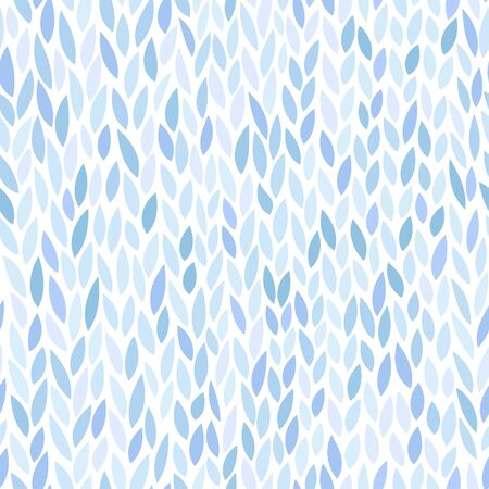 fabric pattern: Abstract seamless pattern. Floral background in blue color tones. Vector illustration with leaves can be used for fashion textile, wrapping paper, wallpaper, fabric prints.
