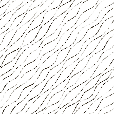crimp: Wave texture. Seamless pattern. Vector illustration. Black and white design. Abstract circle background. Diagonal structure can be used for wallpaper, wrapping paper. Minimalistic style. Stock Photo