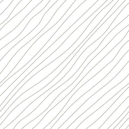 dynamical: Vector seamless pattern. Abstract background. Irregular diagonal texture. Simple design. Textured slanting lines ornament. Black and white illustration.