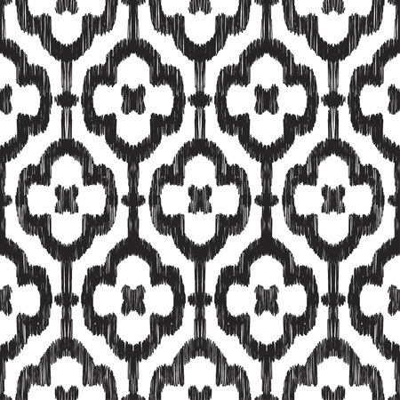 pattern: Illustration of black and white colored pattern, Scribble effect. Illustration