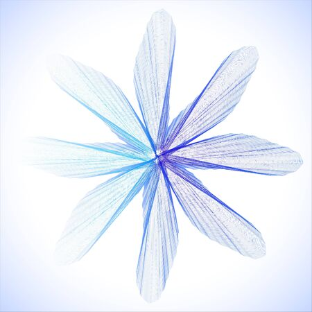 the petal: Abstract banner background Blue flower Design element. Illustration